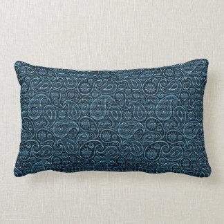 """""""Debajo del mar"""" Paisley azul Almohada"""
