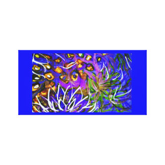 Debajo del mar pintado a mano lona envuelta para galerías