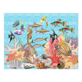 Debajo del mar postales