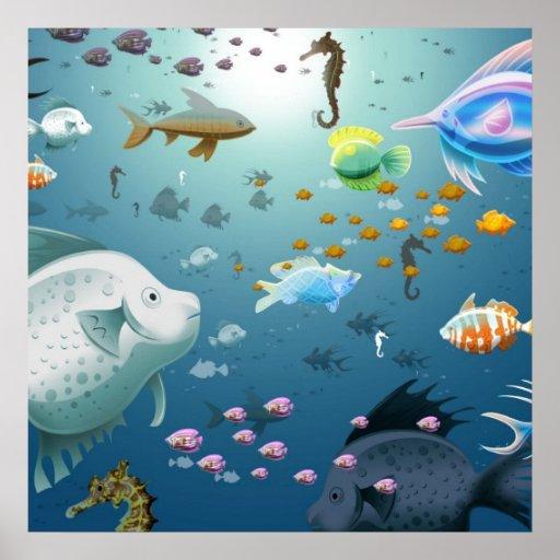 Debajo del mar - poster enorme