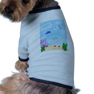 Debajo del mar camisa de mascota