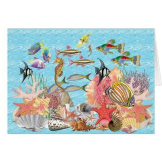 Debajo del mar tarjeta de felicitación
