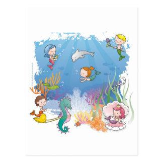 Debajo del mar tarjetas postales