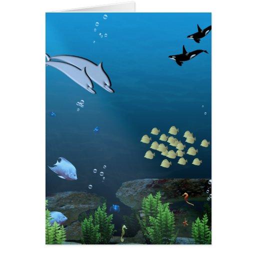 Debajo del mar tarjetas