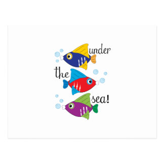 ¡Debajo del mar! Tarjetas Postales