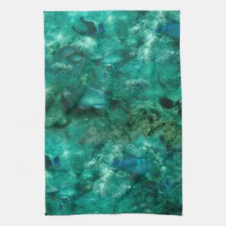Debajo del mar toallas de mano