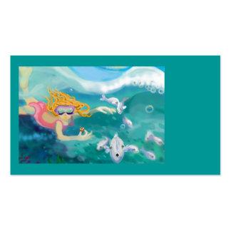 Debajo del océano plantilla de tarjeta de visita