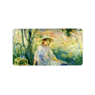 Debajo del Orangetree de Berthe Morisot Etiqueta De Dirección