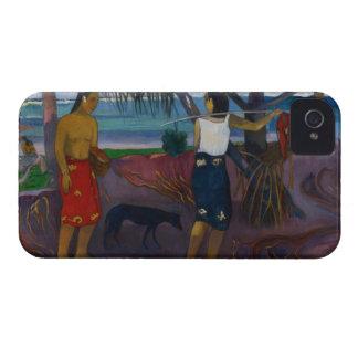 Debajo del Pandanus, 1891 (aceite en lona) iPhone 4 Case-Mate Cárcasa