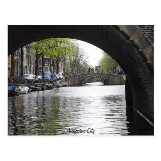 Debajo del puente de Amsterdam Postal