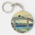 Debajo del puente de Mannen por Katsushika, Hokusa Llavero Personalizado