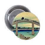 Debajo del puente de Mannen por Katsushika, Hokusa Pin