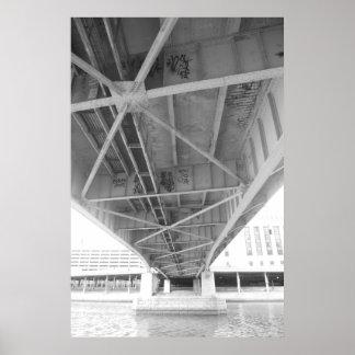 Debajo del puente en la impresión del cartel de Ph Póster