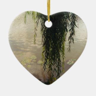 debajo del sauce tree.jpg adorno navideño de cerámica en forma de corazón