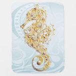 Debajo del Seahorse del oro del mar - manta del Mantita Para Bebé