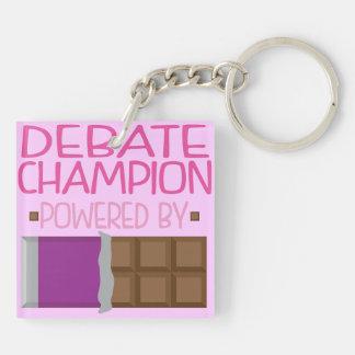 Debate Champion Chocolate Gift for Her Keychain