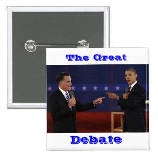 debate-number-21.jpg, The Great, Debate Pinback Button