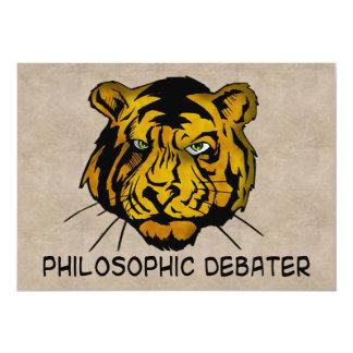 """Debater filosófico invitación 5"""" x 7"""""""