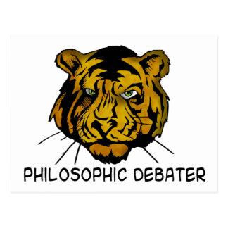 Debater filosófico tarjeta postal