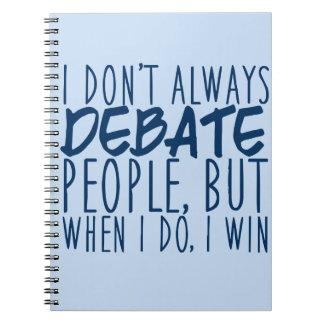 Debater principal cuadernos