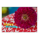 """Debbie"" Happy Birthday Magenta Mum Greeting Greeting Cards"