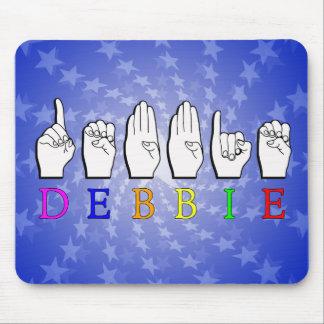 DEBBIE NAME SIGN FINGERSPELLED ASL MOUSE PAD