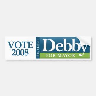 Debby para el alcalde pegatina para el parachoques pegatina de parachoque