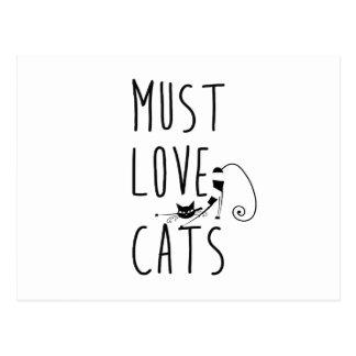 Debe amar gatos postales