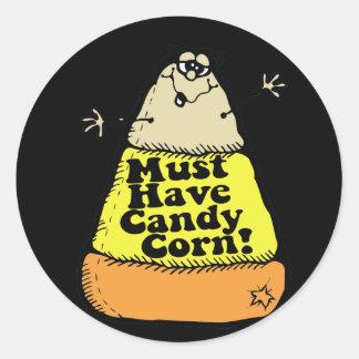 Debe comer pastillas de caramelo pegatina redonda