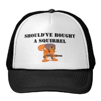 debe haber comprado una ardilla gorras de camionero