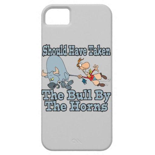 debe haber tomado el toro por los cuernos lamentar iPhone 5 cárcasas