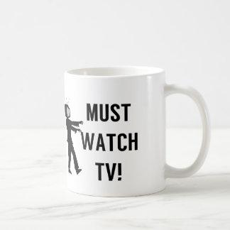 Debe mirar al zombi de la TV Taza Clásica
