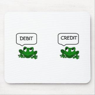Debe o crédito Mousepad de la rana Tapetes De Ratón