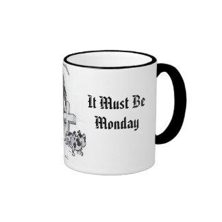Debe ser lunes taza a dos colores