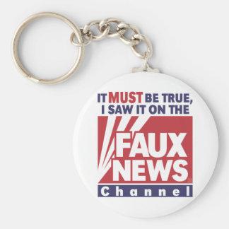 Debe ser verdad: Falsas noticias Llaveros Personalizados