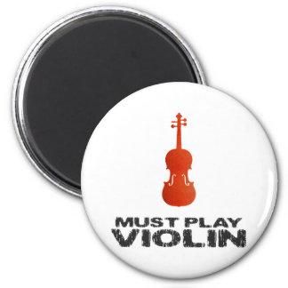 Debe tocar el violín imán redondo 5 cm