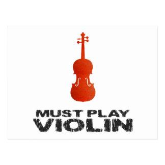 Debe tocar el violín postales