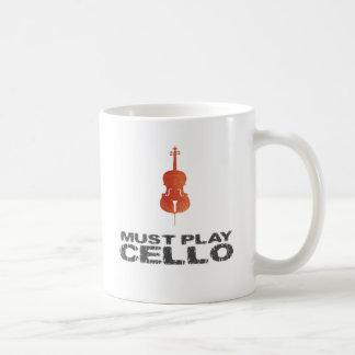 Debe tocar el violoncelo taza clásica