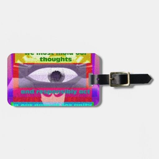 Debemos moldear nuestros pensamientos y responsabl etiquetas maleta