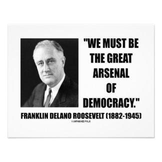 Debemos ser el gran arsenal de la democracia invitacion personalizada