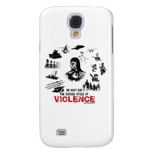 ¡Debemos terminar el ciclo vicioso de la violencia Funda Para Galaxy S4