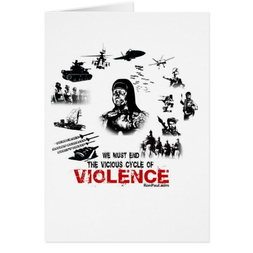 ¡Debemos terminar el ciclo vicioso de la violencia Tarjeta De Felicitación