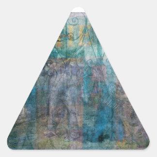 Deber Pegatinas De Trianguladas