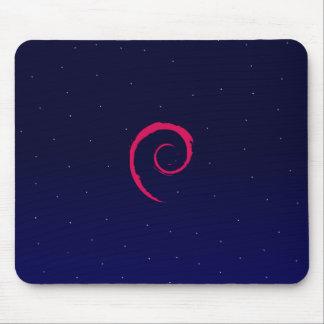 Debian con un fondo del espacio tapete de ratones