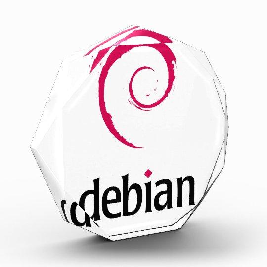 debian Linux Large Acrylic Octagon Award