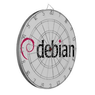 debian Linux Logo Dartboard