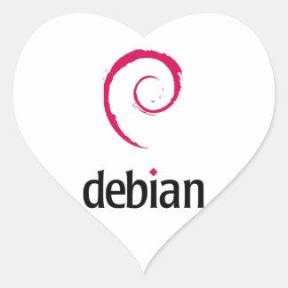 debian Linux Logo Heart Sticker