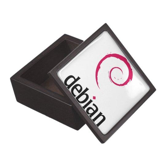 debian Linux Logo Jewelry Box