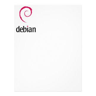 debian Linux Logo Personalized Letterhead