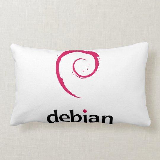 debian Linux Logo Lumbar Pillow